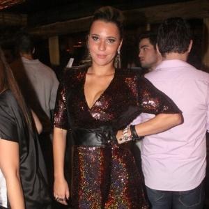 27.mar.2013 - Marien posa para foto na festa de encerramento do