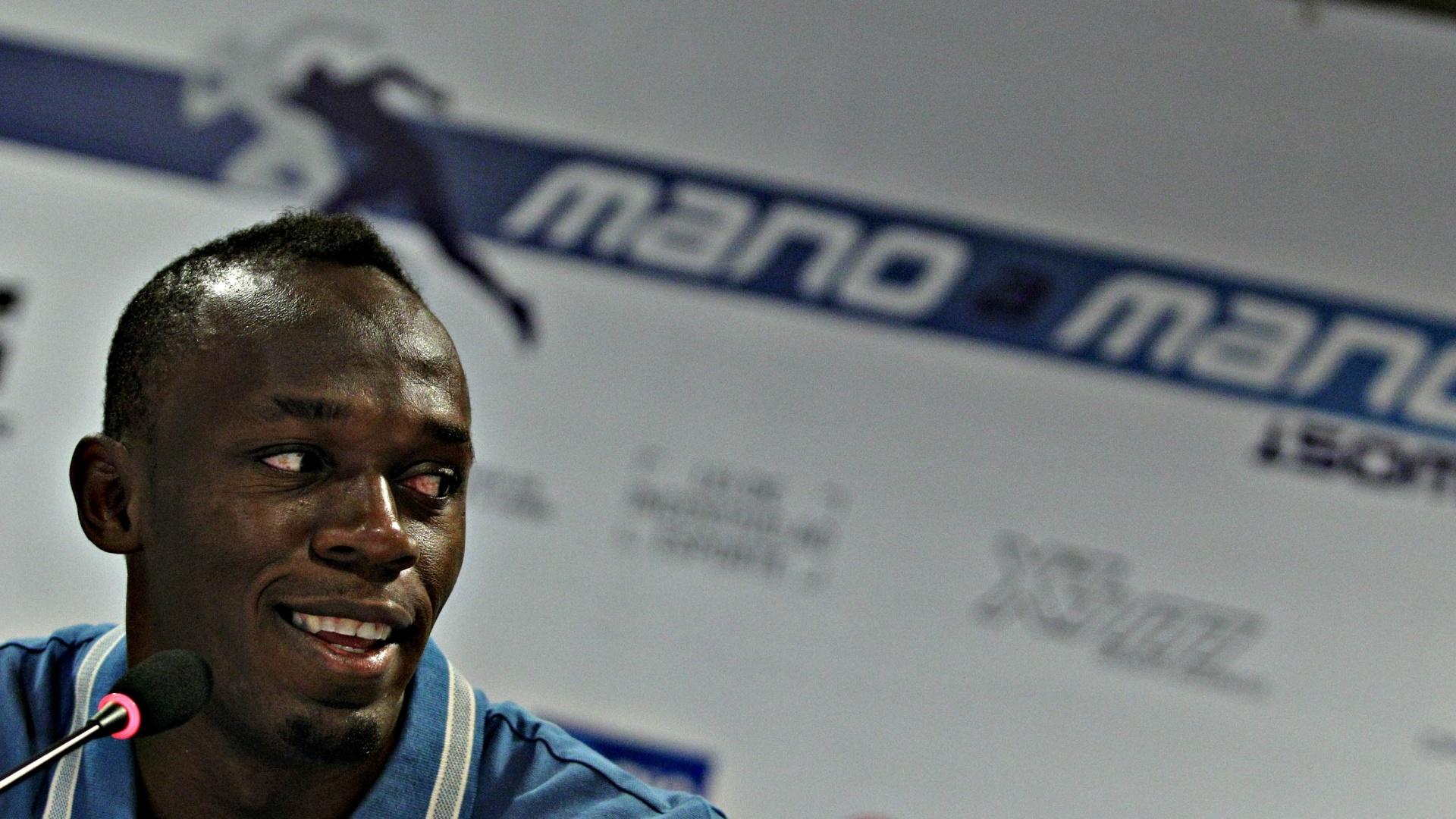 28.mar.2013 - Durante coletiva nesta quinta-feira, Usain Bolt disse que