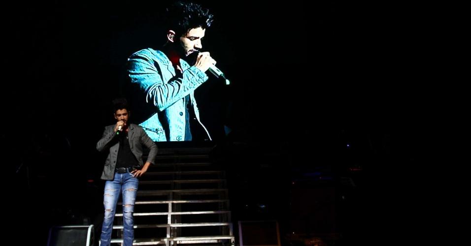 28.mar.2013 - Gusttavo Lima se apresenta no Credicard Hall retorna ao Credicard Hall para apresentar o DVD