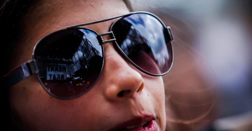 29.mar.2013 - Público acompanha show do Agridoce no primeiro dia do festival Lollapalooza. É o show de despedida do projeto de Pitty e Martin