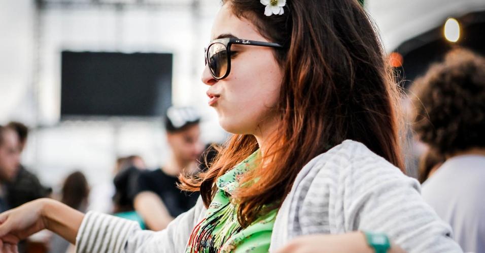 29.mar.2013 - Público espera shows durante o festival Lollapalooza Brasil 2013