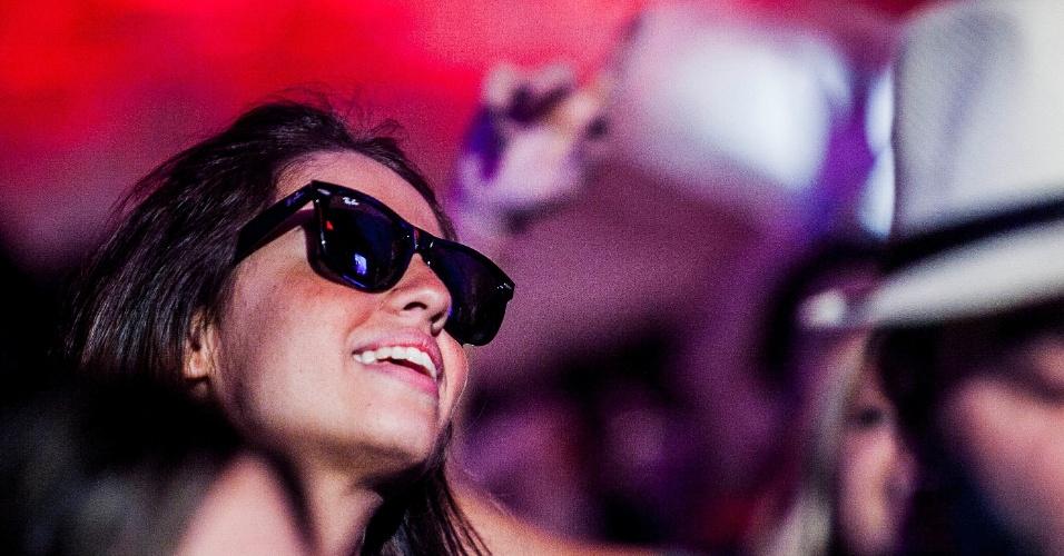 29.mar.2013 - Público no show do canadense deadmau5, que fechou a primeira noite de apresentações do palco Butantã no Lollapalooza 2013