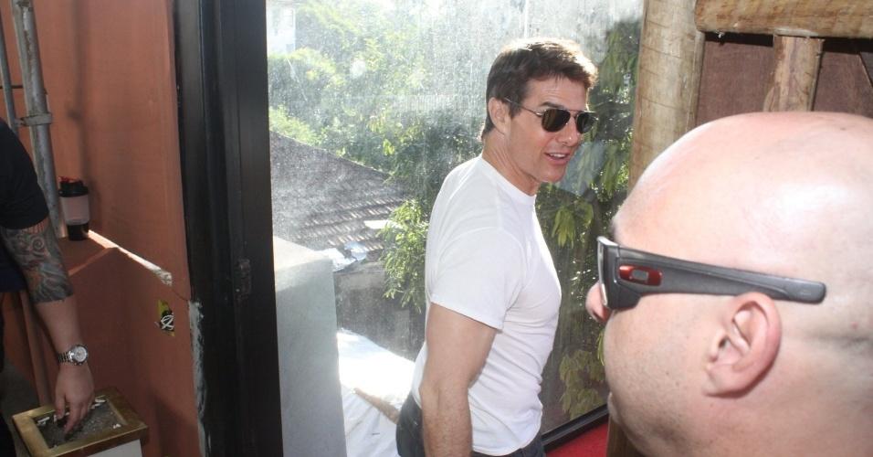 29.mar.2013 - Tom Cruise almoçou no restaurante Aprazível, em Santa Teresa, no Rio