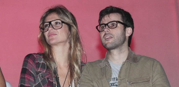 31.mar.2013 - Ellen Jabour e Jonathan Correa no festival Lollapalooza Brasil 2013 para o terceiro dia de shows