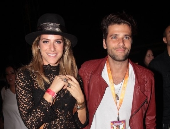 31.mar.2013 - Giovana Ewbank e Bruno Gagliaso no festival Lollapalooza Brasil 2013 para o terceiro dia de shows