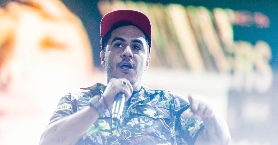 31.mar.2013 - O Planet Hemp se apresenta no palco Butantã no terceiro e último dia do Lollapalooza Brasil 2013