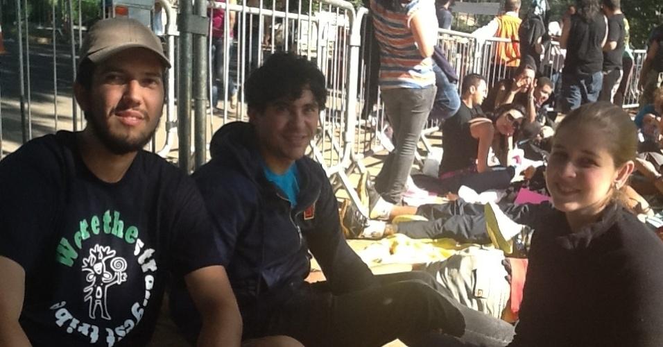 Fãs do Pearl Jam vieram de Curitiba para ver a banda e depois vão acompanhar a banda em Buenos Aires (Argentina) e Santiago (Chile)