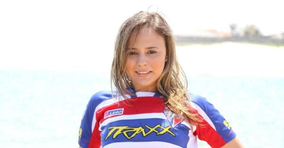 Sabrina Carvalho se inscreveu para representar o Fortaleza no Belas da Torcida 2013