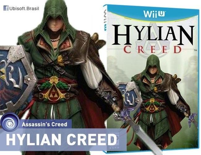 2013 - A produtora de games Ubisoft divulgou uma ''nova versão'' do game ''Assassin's Creed''. A empresa misturou as características do personagem Link, do jogo ''Zelda'', com o estilo da franquia que dá nome ao jogo. A imagem foi publicada no Facebook, mas os usuários desmascararam a piada
