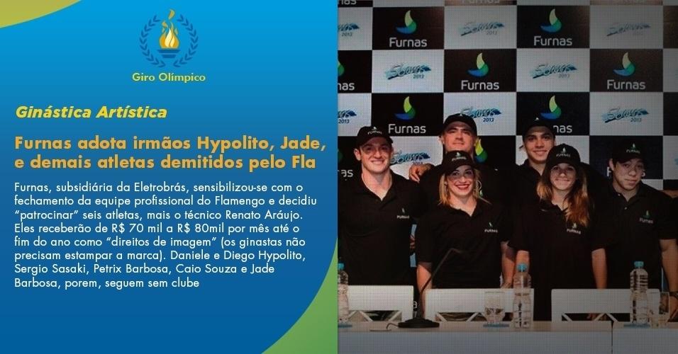Furnas, subsidiária da Eletrobrás, sensibilizou-se com o fechamento da equipe profissional do Flamengo e decidiu