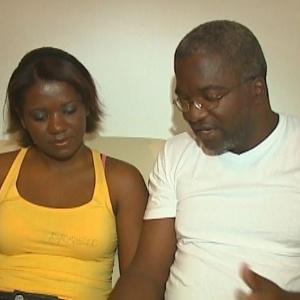 A estudante Jéssica com o pai, o agente penitenciário Valdir Aparecido Victor