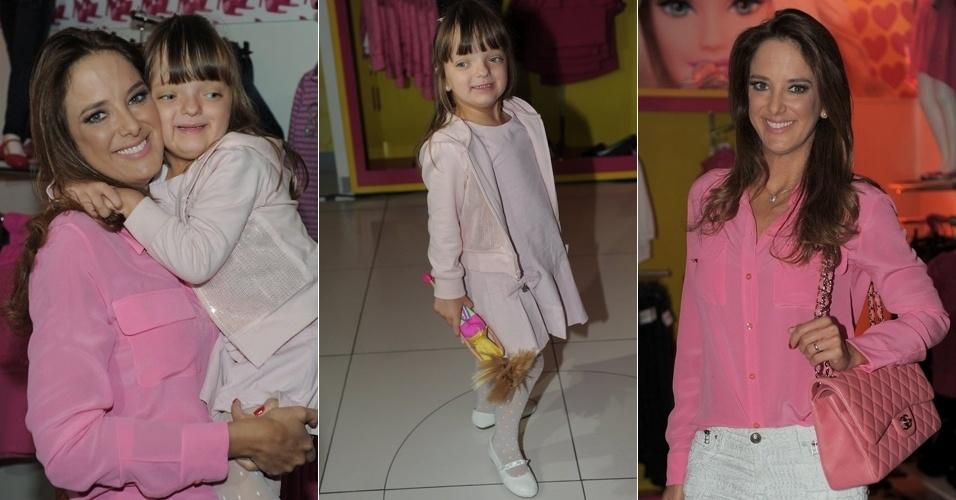 2.abr.2013 - Ticiane Pinheiro e Rafaela Justus comparecem a desfile para crianças em shopping de São Paulo
