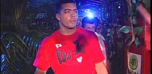 Lyoto Machida em sua luta na primeira edição do Jungle Fight