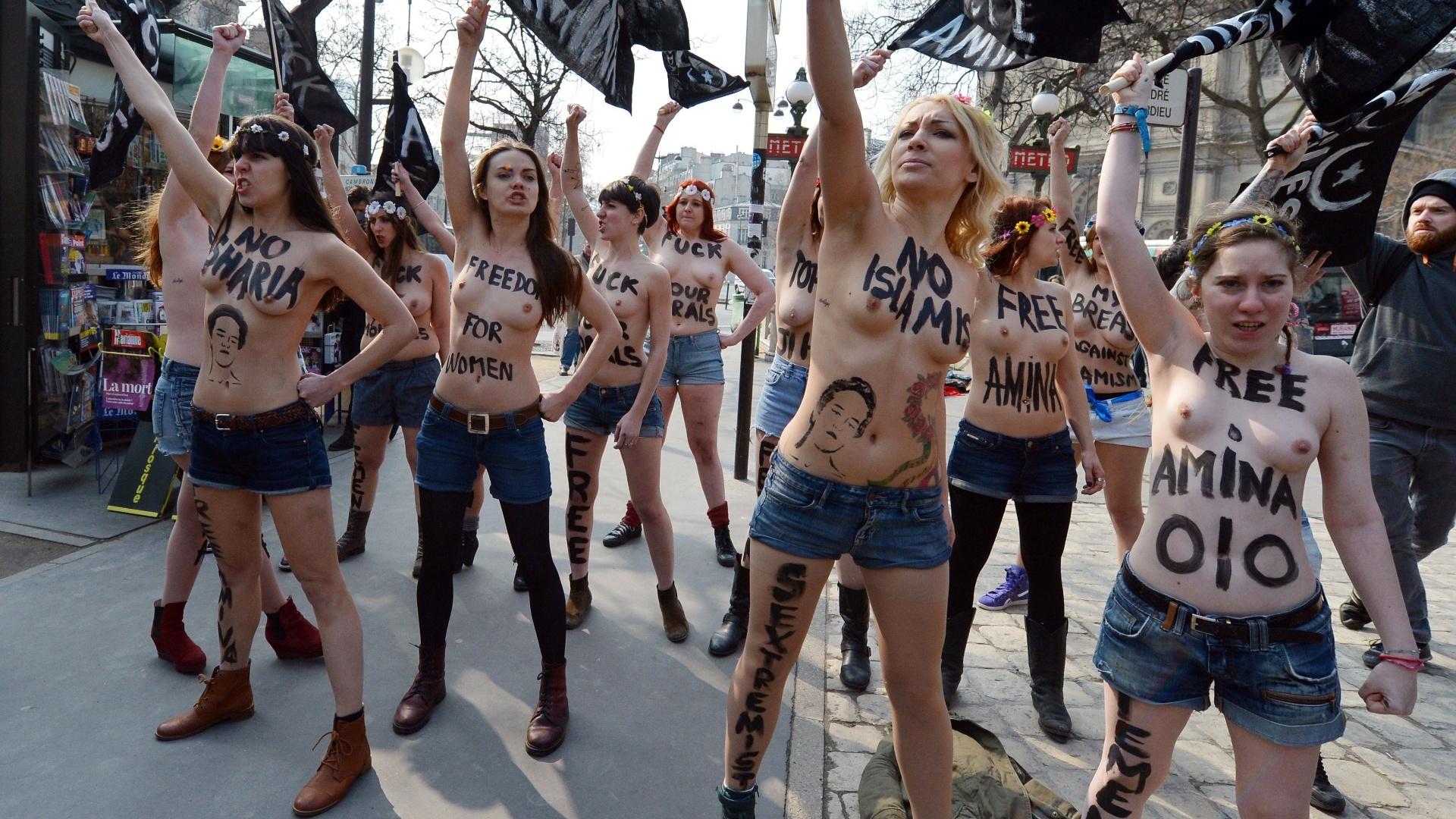 Tunísia: ativistas realizam 1ª ação de topless no mundo árabe