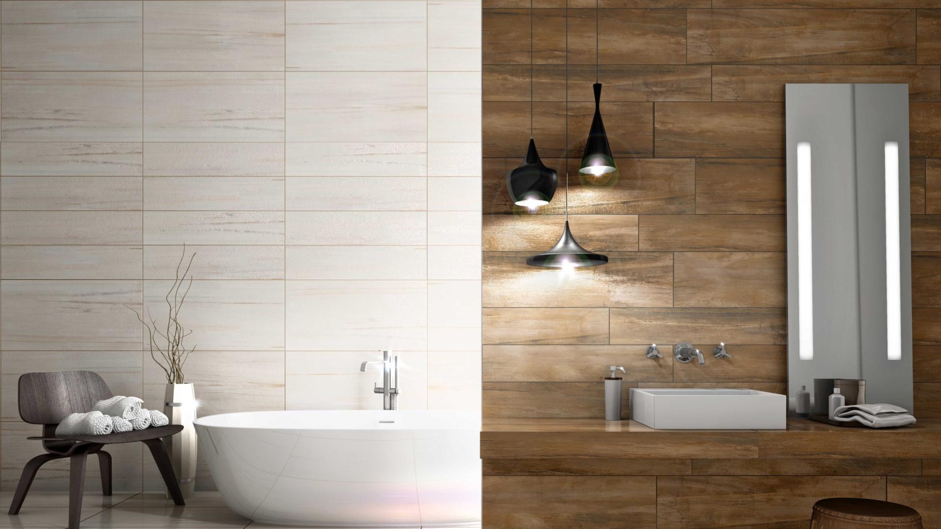 Nas paredes do banheiro os revestimentos se contrapõem: para área  #63492F 1920x1080 Apoio Banheiro Idoso