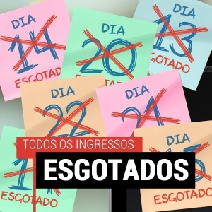 Imagem publicada no site oficial do evento mostra que as entradas esgotaram
