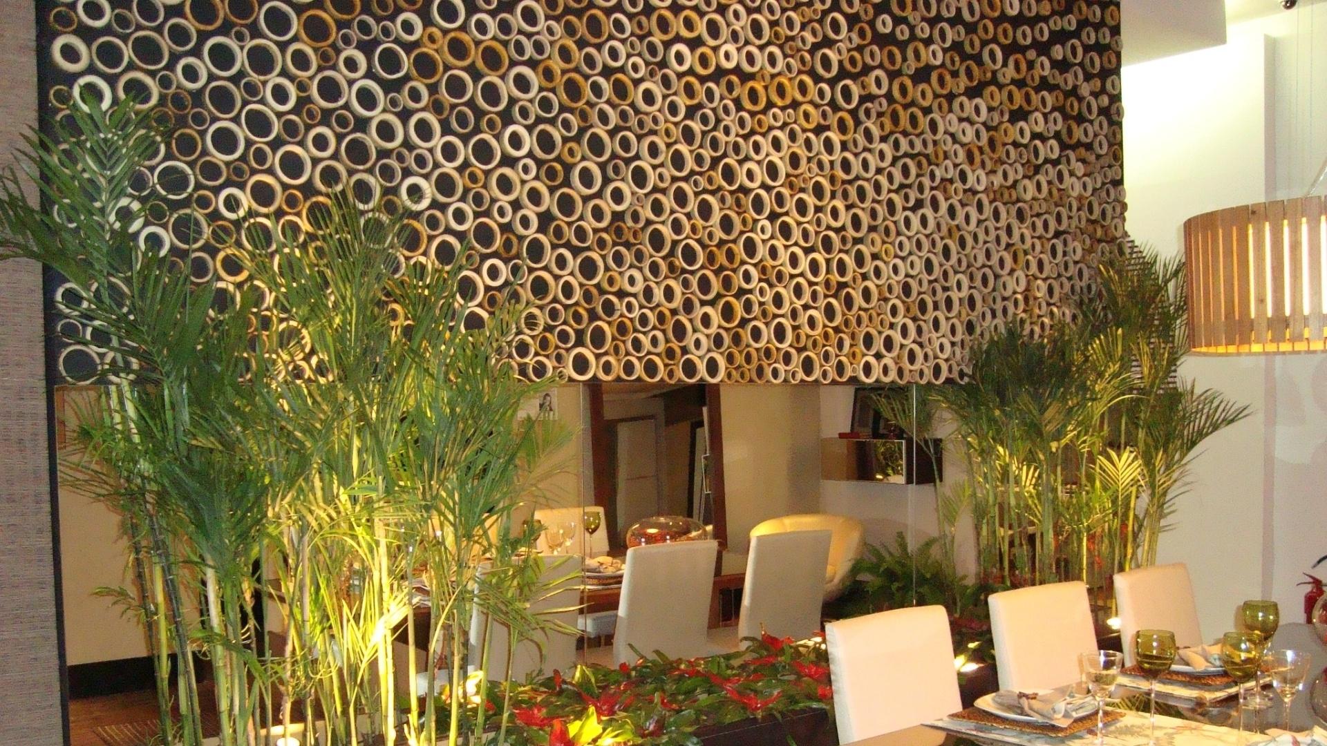 Reciclar E Decorar Sala Salas De Jantar Para Voc Se Inspirar  -> Como Decorar Parede De Sala Com Material Reciclados