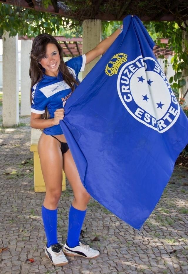 Izabela Soares se inscreveu para representar o Cruzeiro no Belas da Torcida 2013