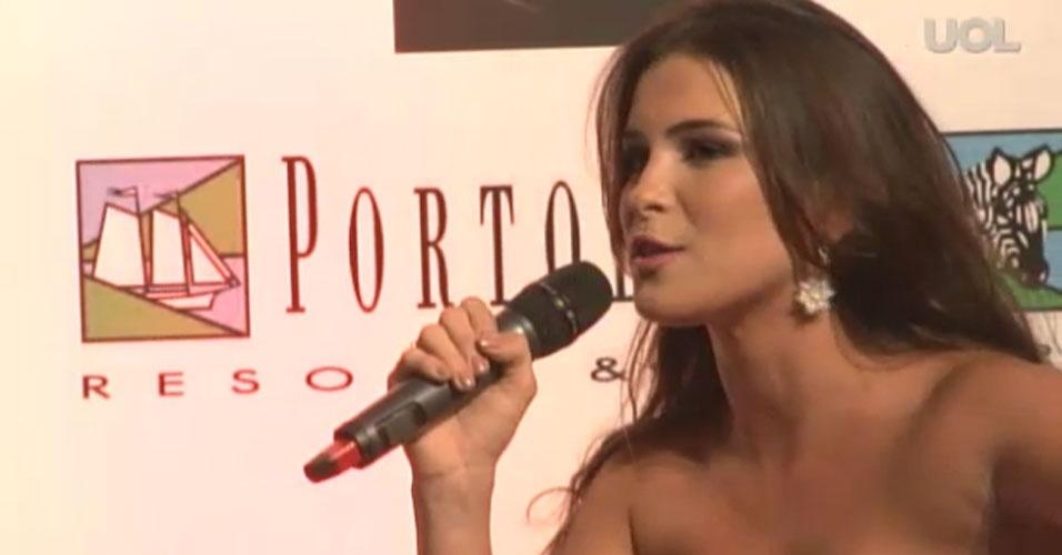 Kamilla Salgado, Miss Brasil World 2010 e ex-BBB foi comentarista do concurso