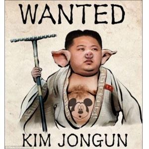 Legenda da imagem do líder Kim Jong-Un publicada indevidamente no Flickr dizia (em inglês): 'Ameaçando a paz mundial com armas nucleares e gastando dinheiro enquanto mata as pessoas de fome'