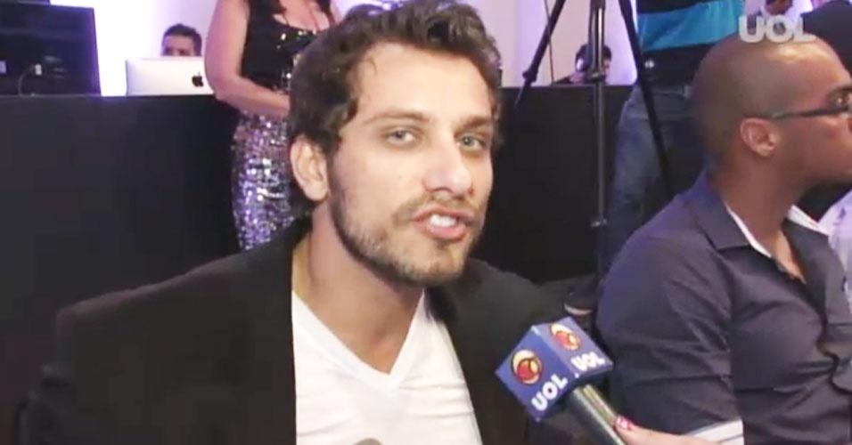 6.abr.2013 - O ex-BBB Eliéser também estava presente no concurso