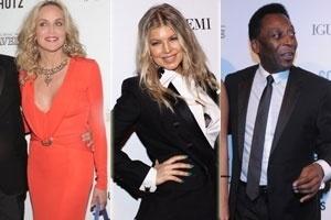 Sharon Stone, Fergie e Pelé na 3ª edição do baile de gala da amfAR
