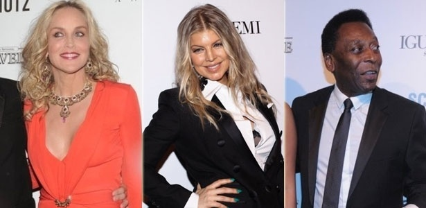 Sharon Stone, Fergie e Pel na 3 edio do baile de gala da amfAR