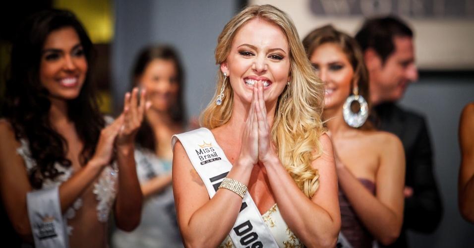 6.abr.2013 - A Miss Ilha dos Lobos Sancler Frantz é a Miss Brasil World 2013