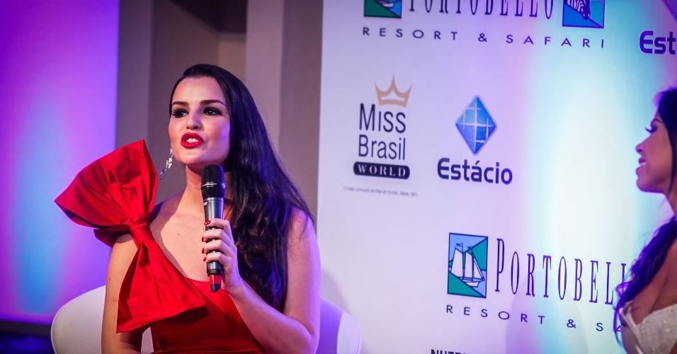 6.abr.2013 - A Miss Brasil World 2008, Tamara Almeida, também esteve na final