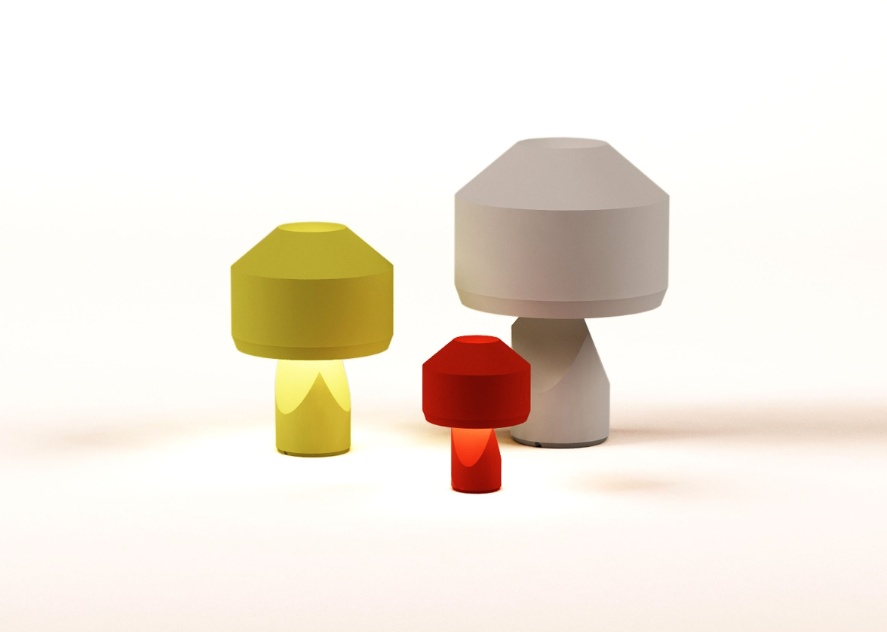 As luminárias Dot, em três tamanhos e cores diversas, é uma das criações de Samuel Accoceberry para a marcel by
