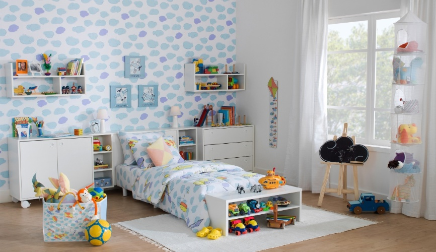 Pensando nos móveis para o quarto do bebê Vida Materna ~ Adesivos De Parede Para Quarto Tok Stok