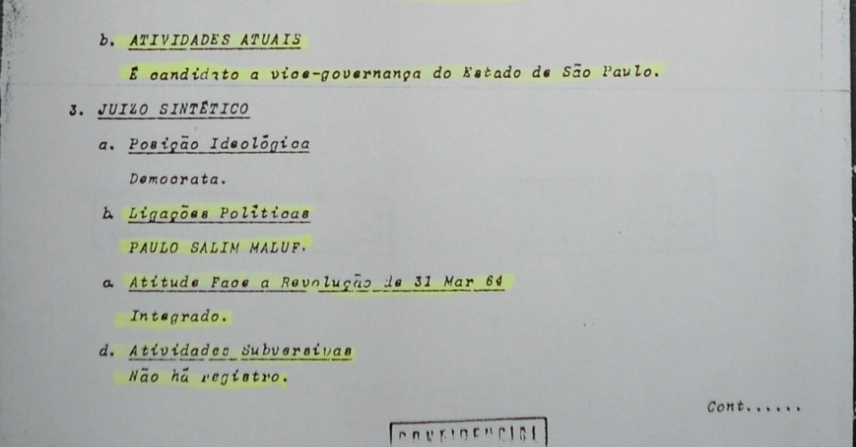 Quarta página da ficha de Marin no SNI