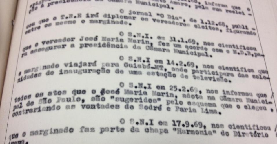 Segunda página da ficha de Marin no Dops