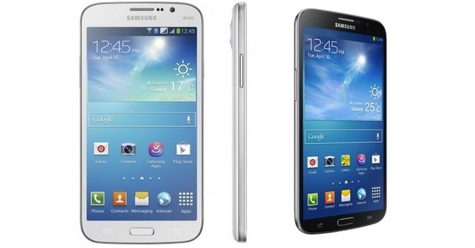 11.abr.2013 - A Samsung anunciou mais dois aparelhos para a linha Galaxy. Com o nome de Mega, os smartphones possuem tela de 5,8 polegadas (foto) e 6,3 polegadas. Ambos são equipados com Android 4.2, 1,5 GB de memória RAM, câmera traseira de 8 megapixels e frontal de 1,3 megapixels. O produto chegará na Europa em maio e depois será disponibilizado gradualmente para o mundo. Não há informações sobre preço