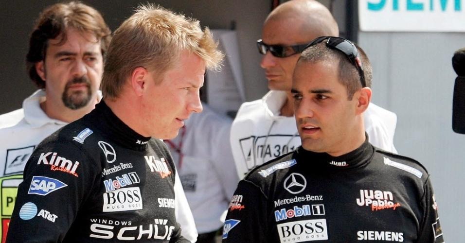 Kimi Raikkonen e Juan Pablo Montoya