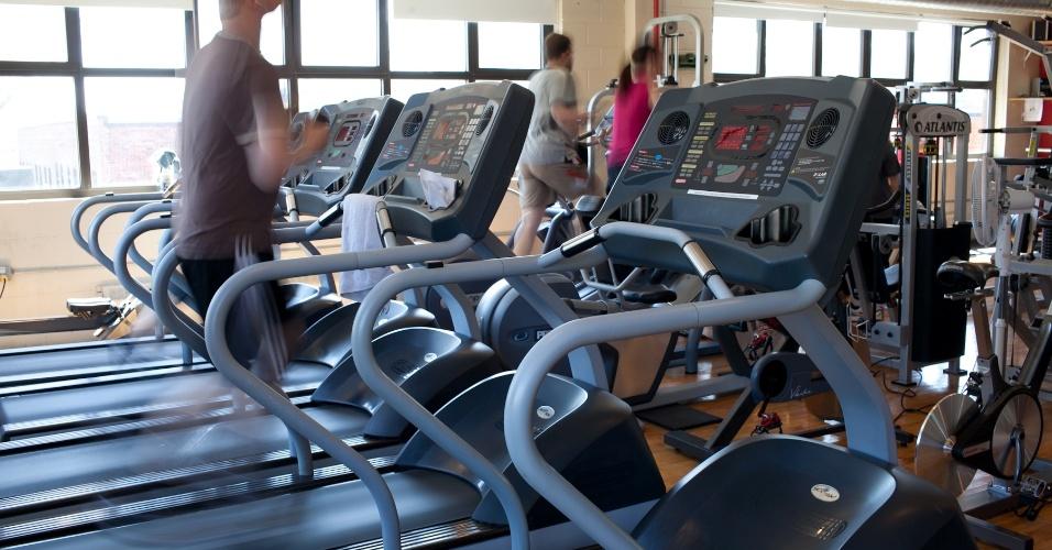 O estúdio da Ubisoft em Montreal oferece academia para os funcionários manterem a forma - ou pelo menos tentar