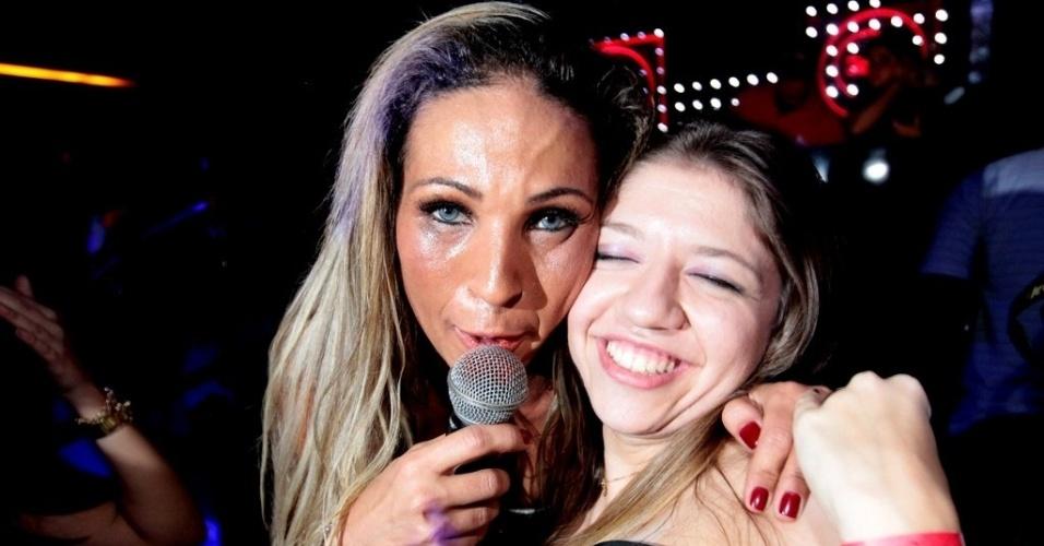 11.abr.2013 - A ingressos que chegaram a R$ 150, Valesca Popozuda se apresenta no Royal Club, balada da região da Consolação, em São Paulo