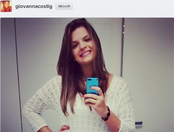 Giovanna Costi é noiva de Ganso