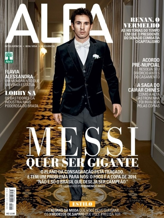 Messi posa de terno para revista brasileira e diz ter superado timidez do início da carreira