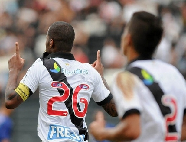 13.04.2013 - Zagueiro Ded comemora gol do Vasco contra o Quissam, pelo Campeonato Carioca