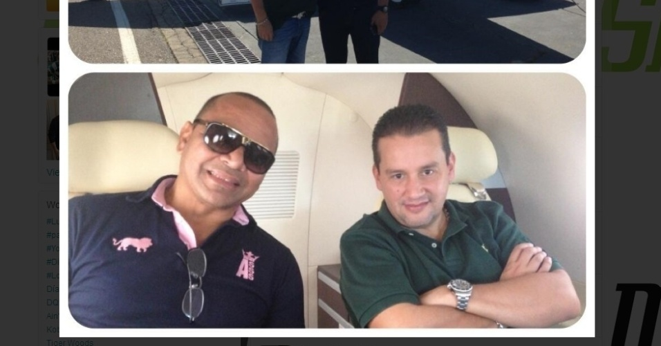 13ab2013 - Agente com o pai de Neymar em avio