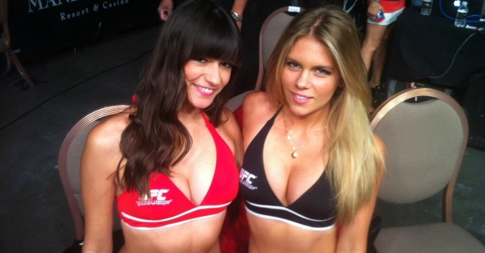 Antigas ring girls do Strikeforce, Vanessa Hanson e Chrissy Blair estreiam na funo no UFC