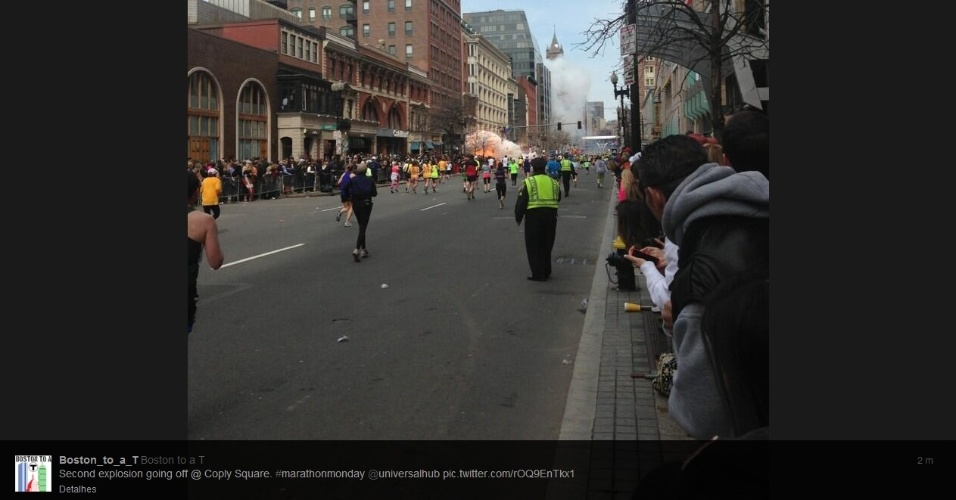 Tumulto após explosão na Maratona de Boston, nos Estados Unidos