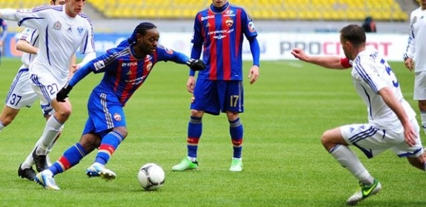 06.abr.2013 - Atacante Vagner Love, do CSKA, em ao durante a vitria por 2 a 0 sobre o Volga, pelo Campeonato Russo