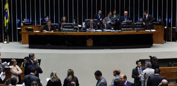 Sessão da Câmara que aprovou projeto que restringe a criação de partidos