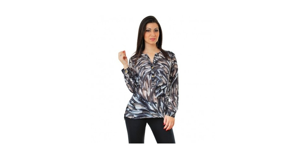 Camisa com estampa em tons de cinza; R$ 299,90, da M.Officer, na Leopardi (www.leopardi.com.br). Preço pesquisado em abril de 2013 e sujeito a alterações