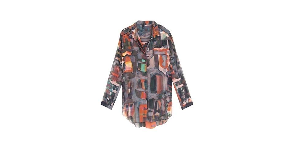 Camisa estampa de mangas longas; R$ 440, na Lilla Ka (www.lillaka.com.br). Preço pesquisado em abril de 2013 e sujeito a alterações