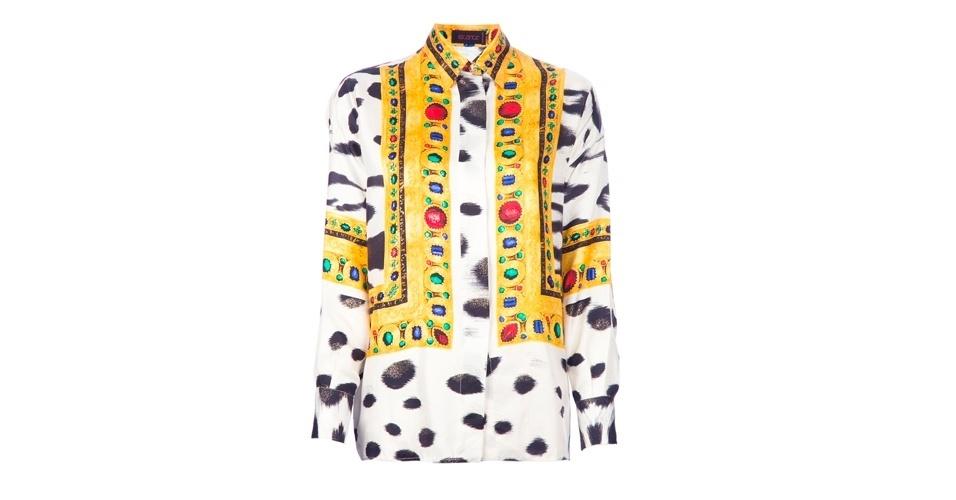 Camisa estampada vintage; R$ 2.280, da Instante by Gianni Versace, na Farfetch (www.farfetch.com.br). Preço pesquisado em abril de 2013 e sujeito a alterações