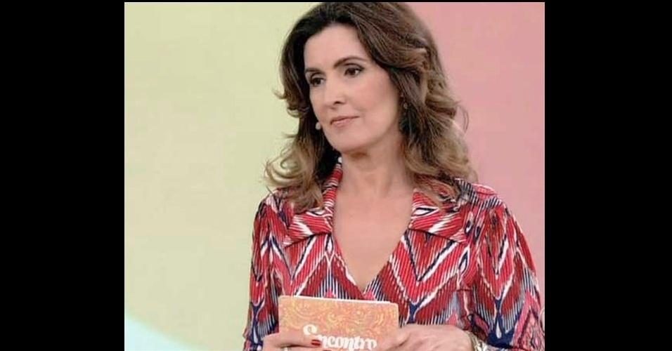 Fátima Bernardes aparece de novo na lista de roupas mais pedidas na Central de Atendimento da Globo. Seu vestido estampado de mangas longas da Fernanda Chies ficou na oitava posição (www.fernandachies.com.br)