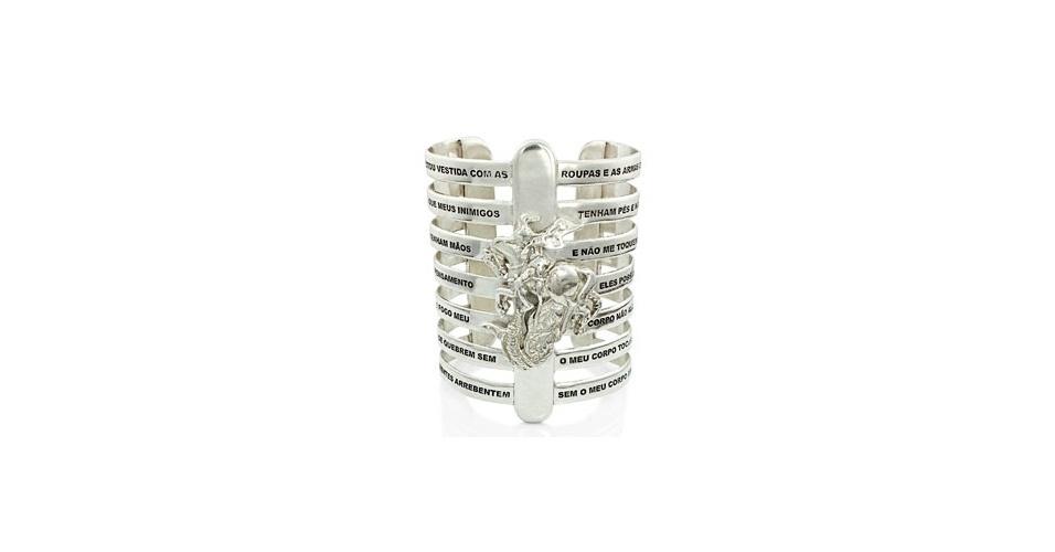 Imagem ampliada da versão em prata do bracelete da designer Lygia Durand. Preço pesquisado em abril de 2013 e sujeito a alterações